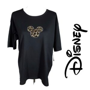 BOGO Disney World Swarovski Leopard Mickey Tee
